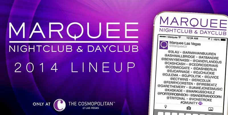 Marquee Dayclub 2014 Resident DJs