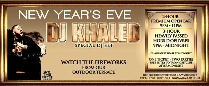DJ Khaled Lavo Vegas NYE