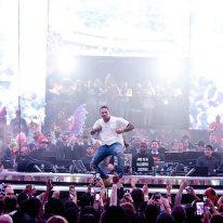 Chris Brown Drai's Rooftop Nightclub