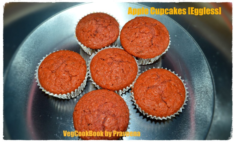 apple cupcakes eggless