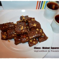 Chocolate - Walnut Fudge / Burfi