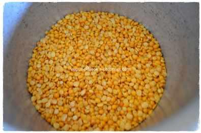 Toor Dal/Yellow Lentils taken in pressure cooker
