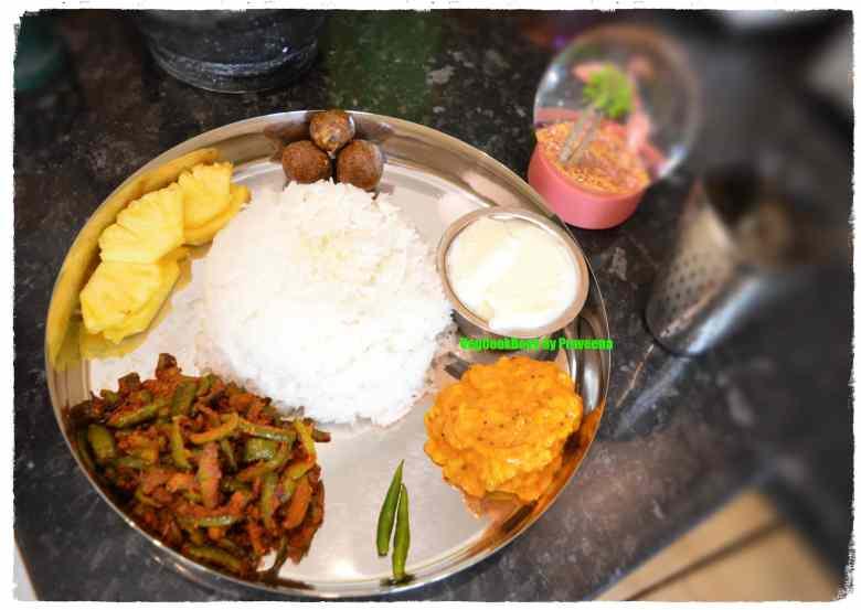 Bhojanam / thali / veg platter