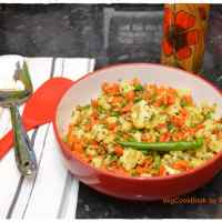 Cauliflower,Carrots & Peas Stir Fry