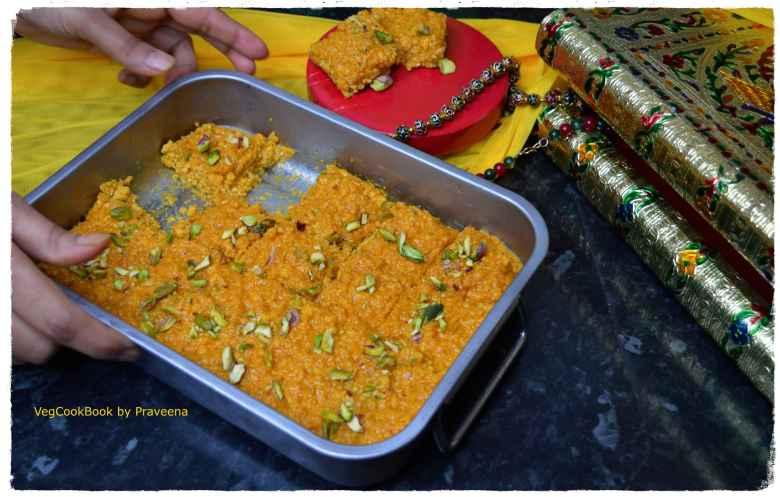 mango kalakand burfi / fudge