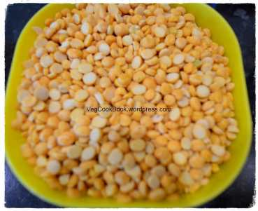 Chana Dal / Split Chickpeas before soaking