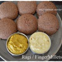 Ragi / Bhakri / Finger Millets Idli