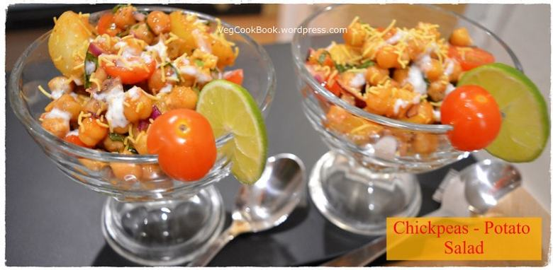 chana aloo chat / chickpeas salad