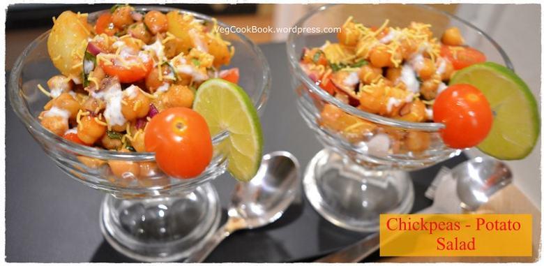 chana aloo chat / chickpeas salad