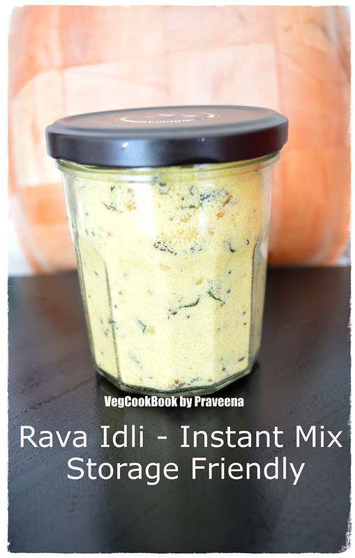 Instant Rava Idli Mix (Storage Friendly)