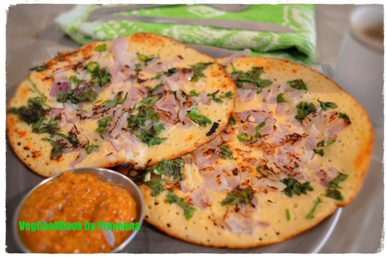tri dal uthappam / savoury pancakes