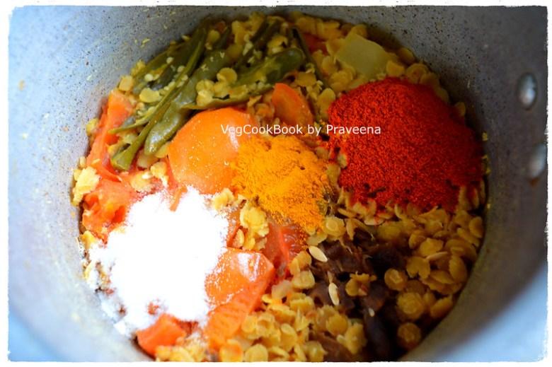 dosakaya pappu / yellow cucumber dal