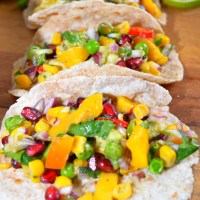 Avocado - Mango Salsa & Tacos ( No Oil)