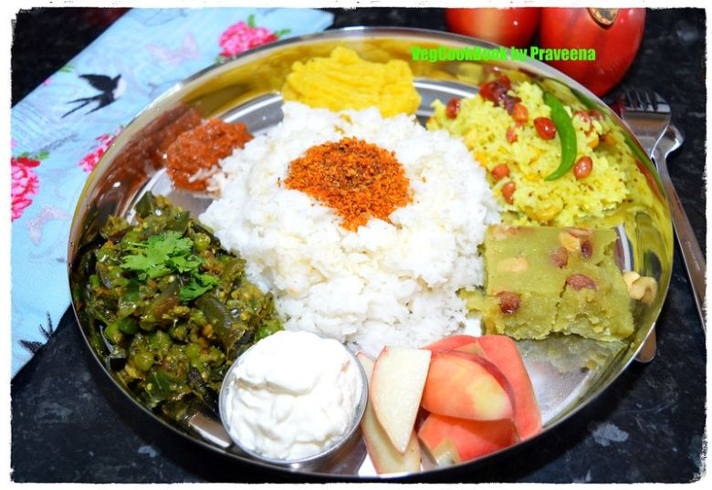 Simple South Indian Festive Thali