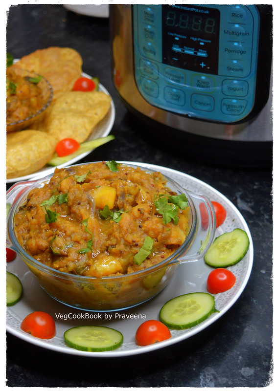 South Indian potato curry in electric pressure cooker / instant pot