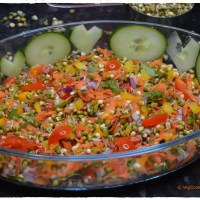Green Mung (Sprouts) Rainbow Salad