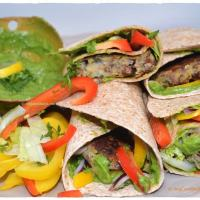 Vegan Bean Burrito Burger Wraps