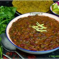 Rajma - Palak Masala / Red Kidney Beans - Spinach Curry