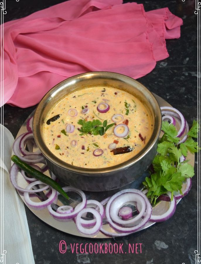 ulli perugu pachadi. onion yogurt dip. easy to make ullipaya chutney as a side for rice, roti, South Indian Andhra style sandwich spread.