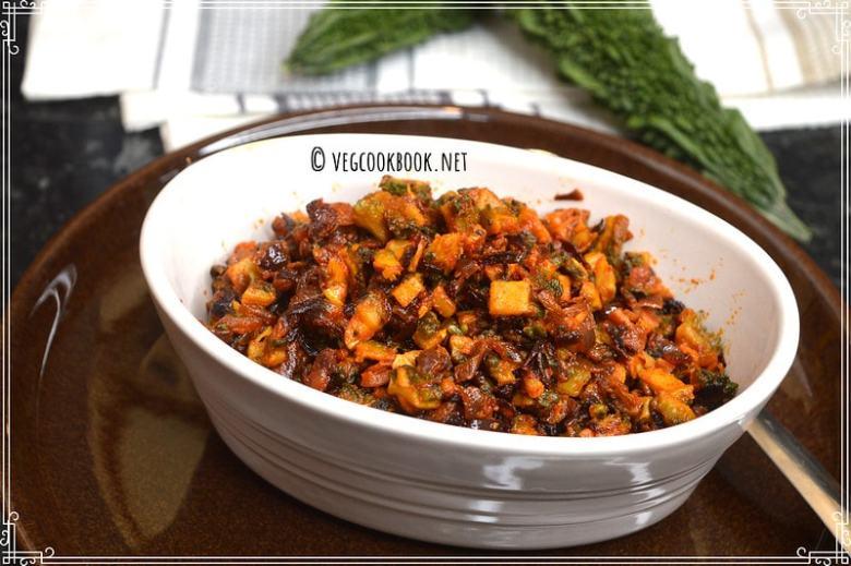 kakarakaya vepudu / karela / bitter gourd stir fry. Diabetic friendly,Vegan,Plant based.Tips for zero bitterness.South Indian Andhra recipe.