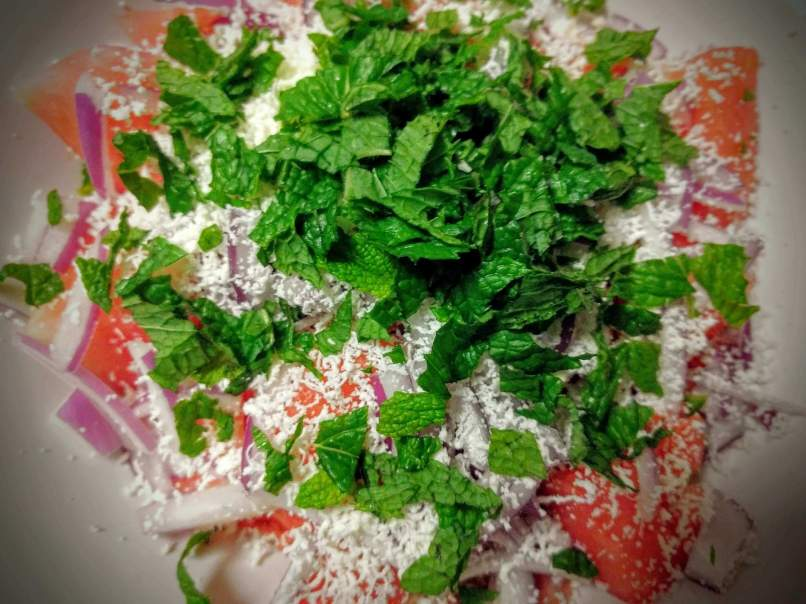 Watermelon Feta Salad Recipe Step By Step Instructions 4
