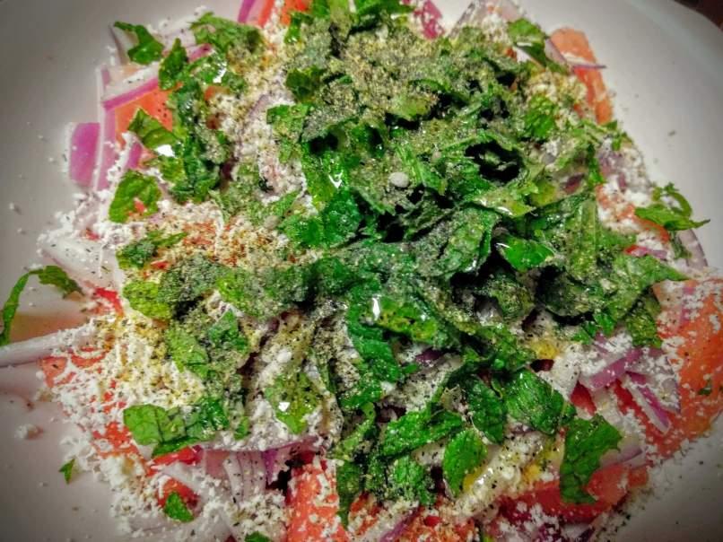Watermelon Feta Salad Recipe Step By Step Instructions 5