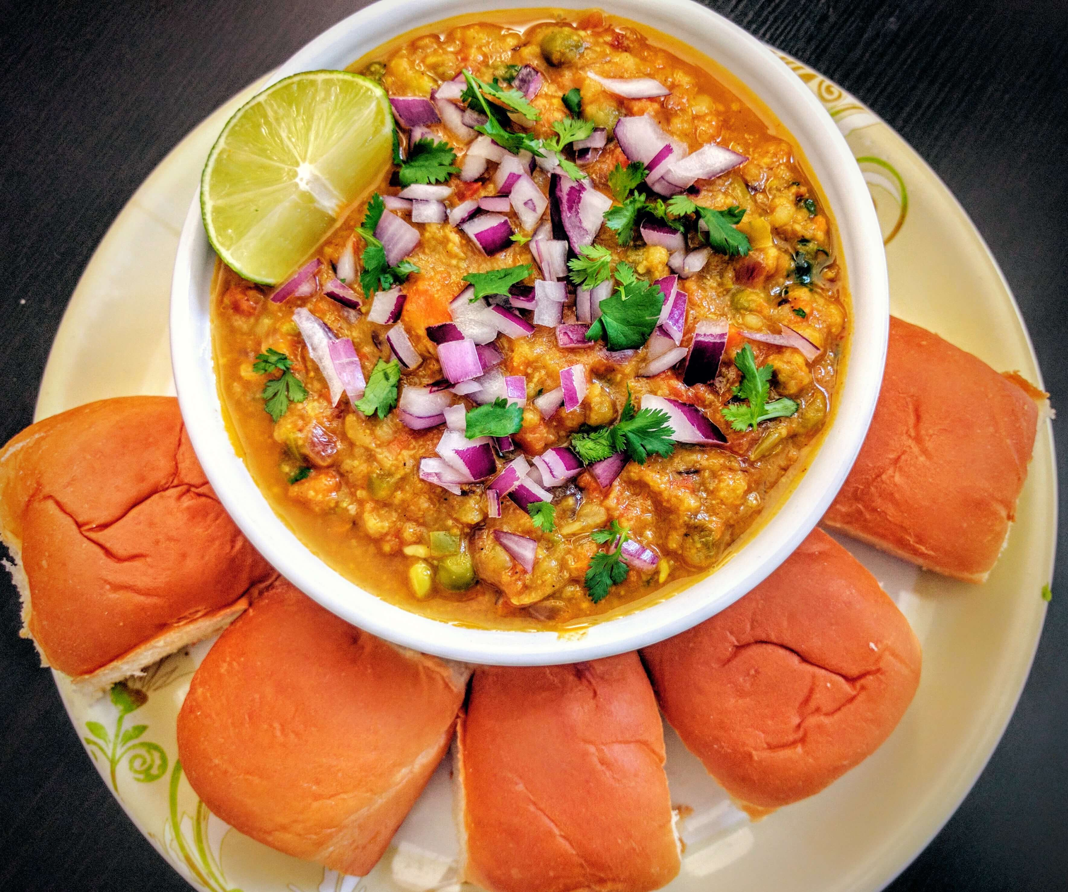 Pav Bhaji Recipe Step By Step Instructions
