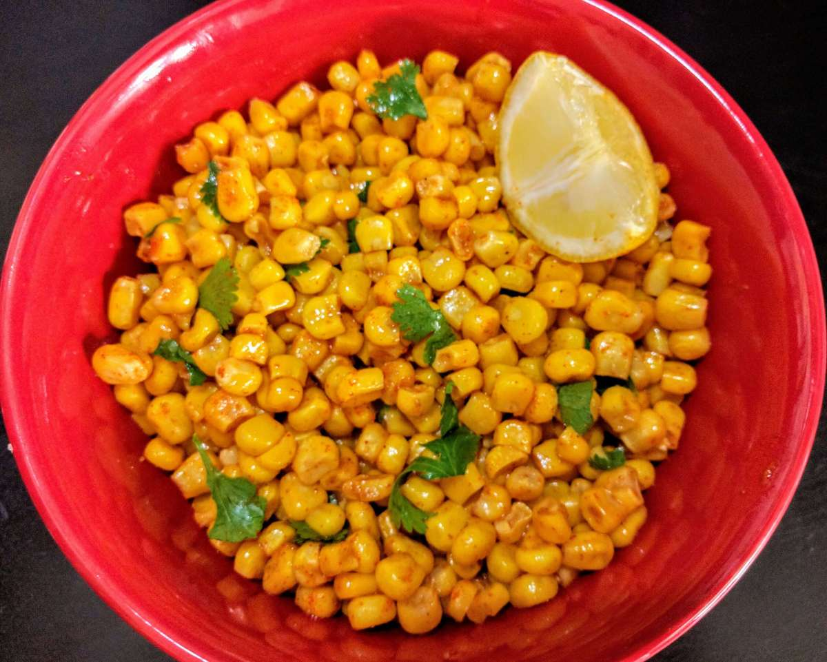 Masala Corn Recipe (Spicy Sweet Corn)