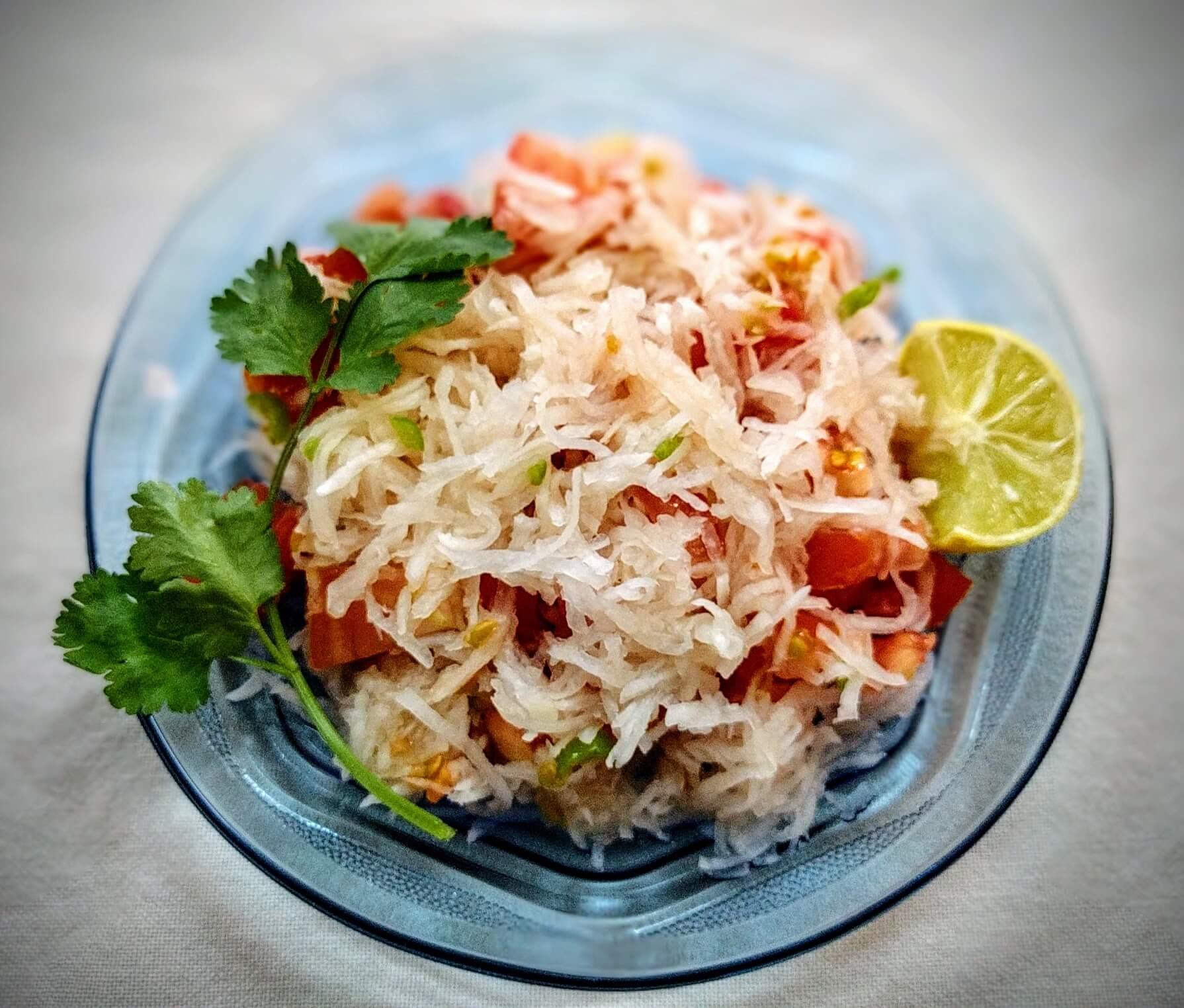 mooli recipe salad with chicken