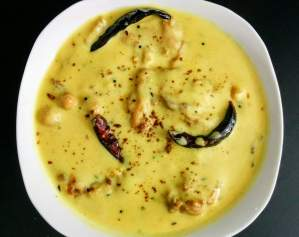 Punjabi Kadhi Pakora Recipe Step By Step Instructions