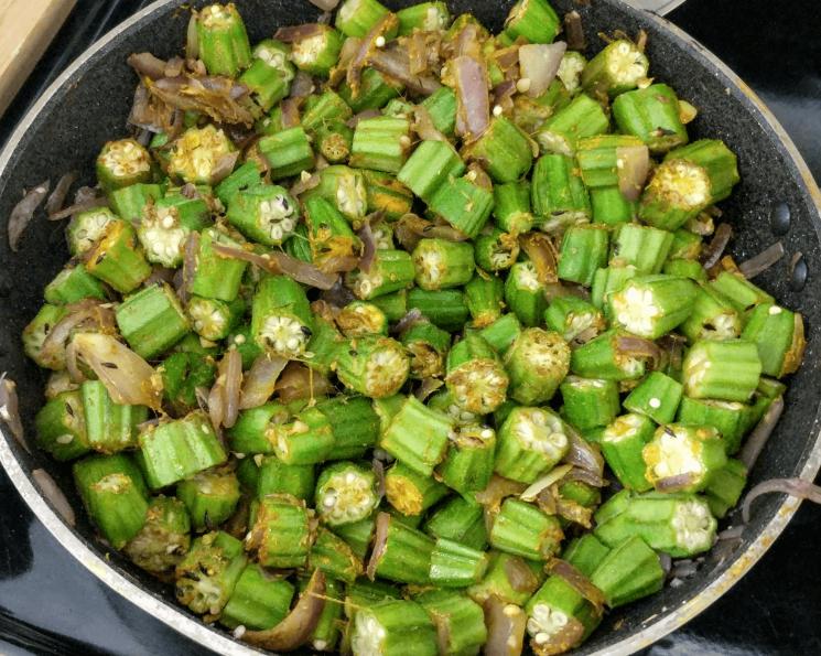 Bhindi Do Pyaza Recipe Step By Step Instructions 7