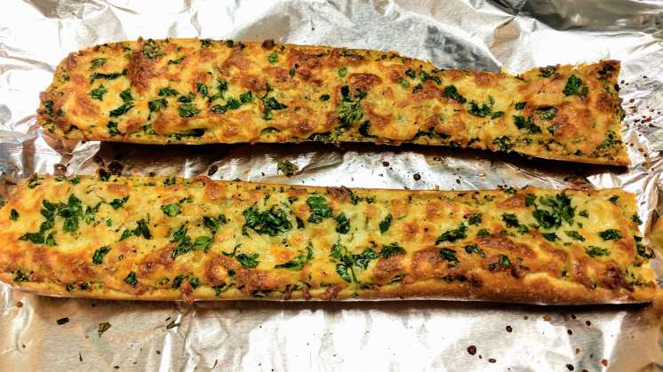 Cheese Garlic Bread Recipe Step By Step Instructions 8