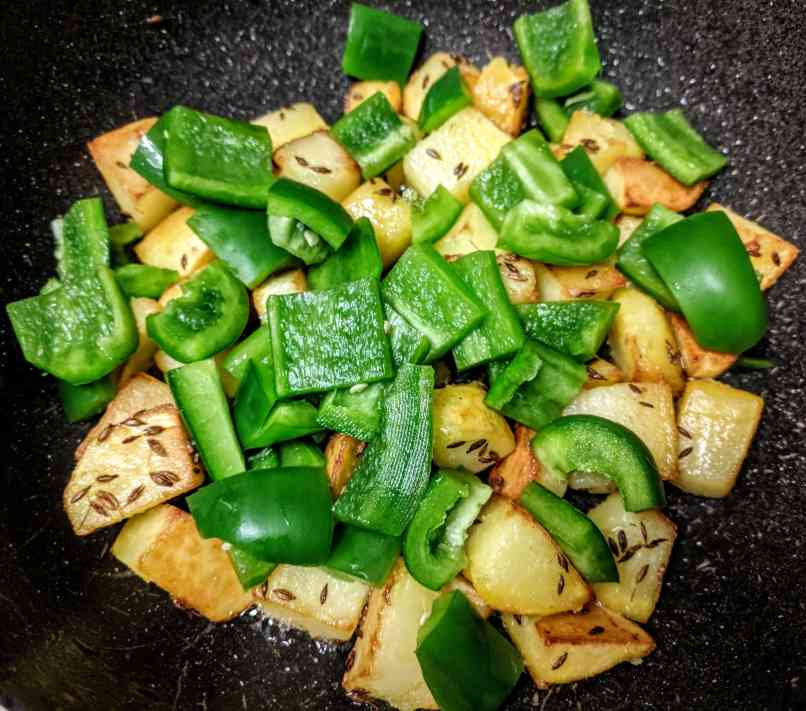 Aloo Capsicum Recipe Step By Step Instructions 4