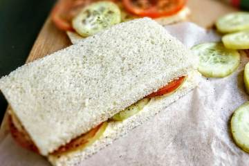 Tomato Cucumber Sandwich Recipe Step By Step Instructions