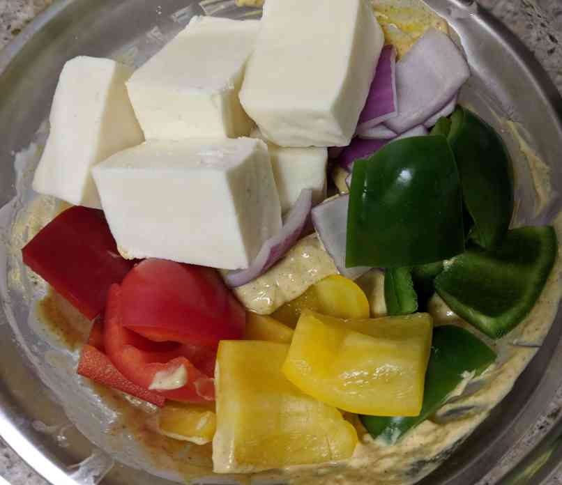Paneer Tikka Recipe Step By Step Instructions 4
