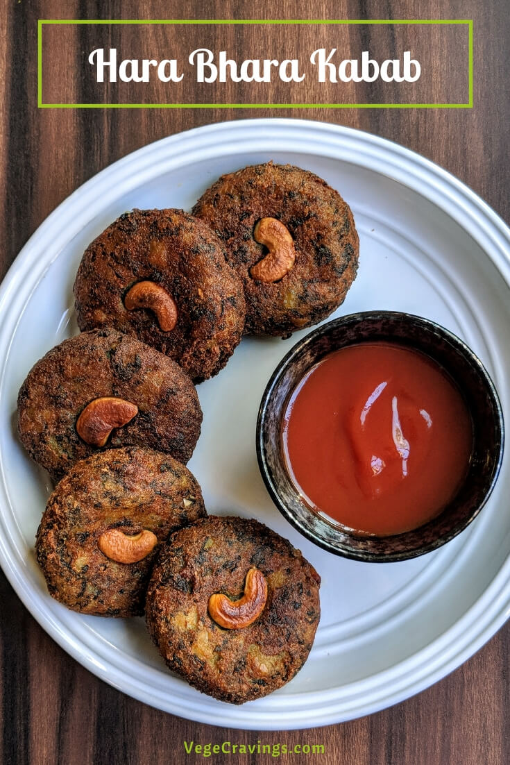 Hara Bhara Kabab is a delicious veg cutlet (kabab) made primarily from spinach & potatoes and generously flavored with various spices.
