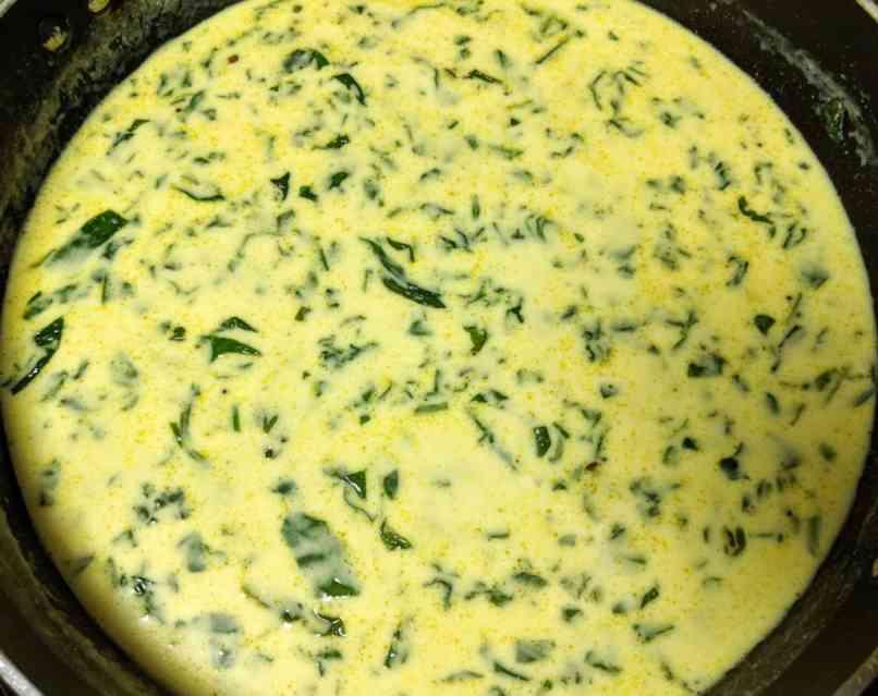 Palak Kadhi Recipe Step By Step Instructions 7