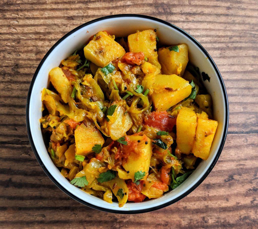 Aloo Patta Gobhi Recipe Step By Step Instructions
