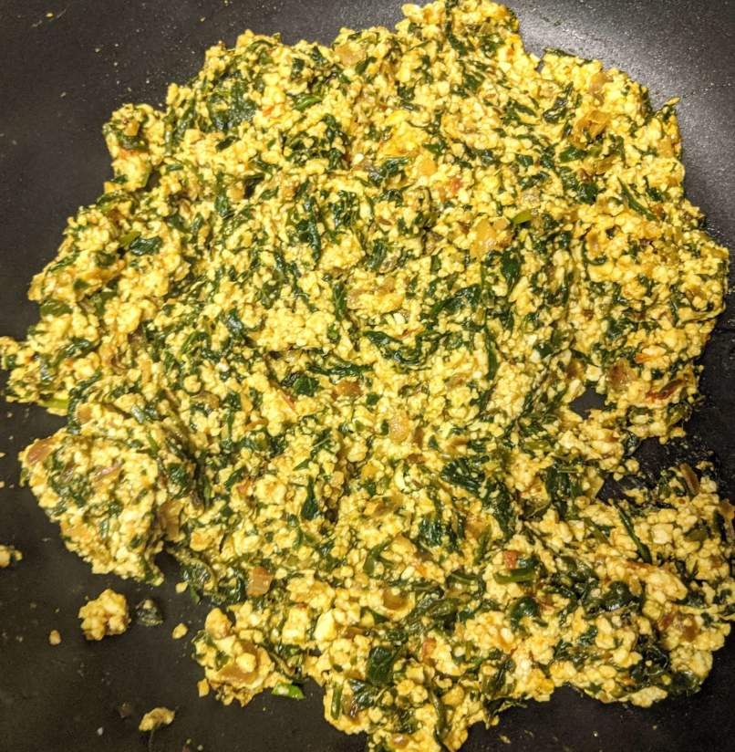 Palak Paneer Bhurji Recipe Step By Step Instructions 11