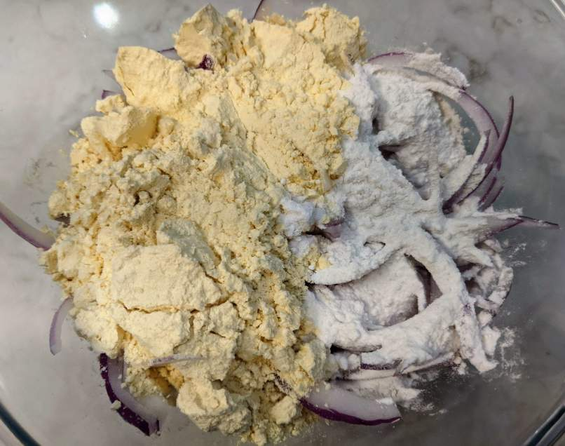 Onion Pakora Recipe Step By Step Instructions 2