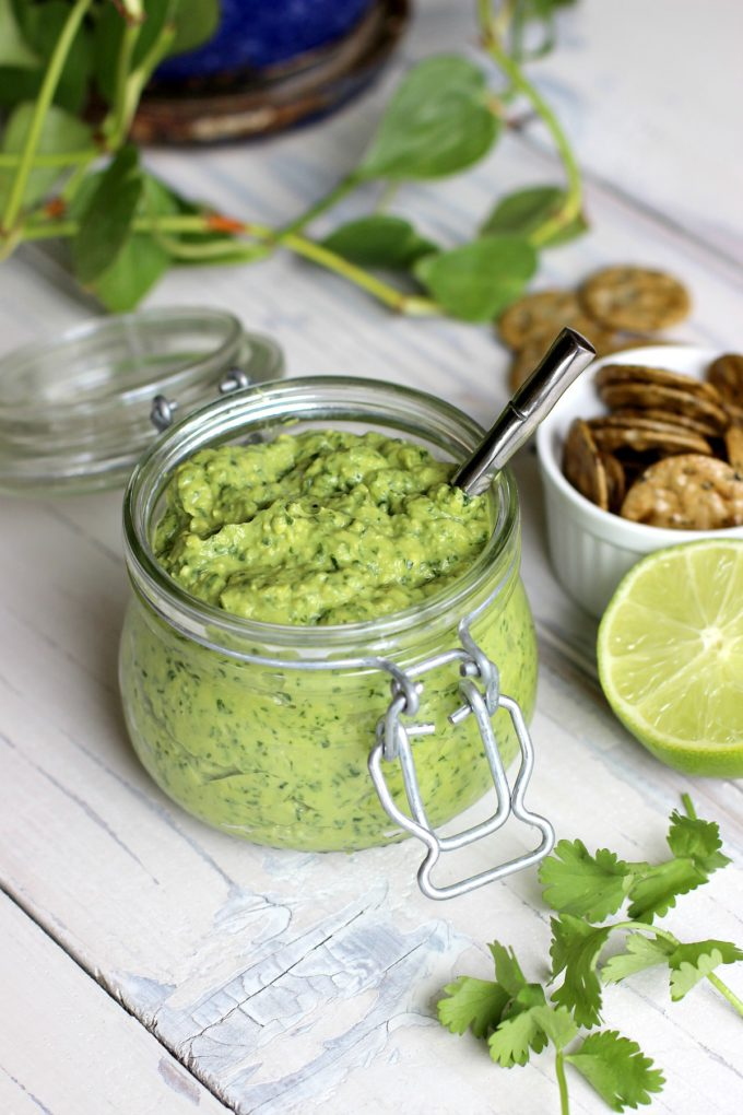 Creamy Avocado Cilantro Pesto (No Added Oil)