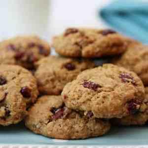 Biscuits canneberges et beurre d'arachide