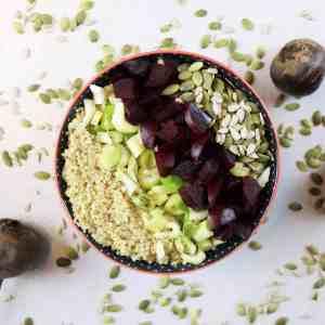 Salade de betterave et quinoa