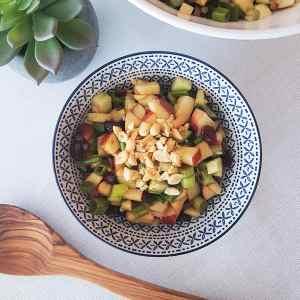 Salade de légumineuses, pommes et canneberges