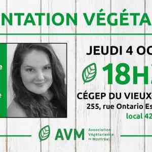 Conférence : Alimentation végétale 101