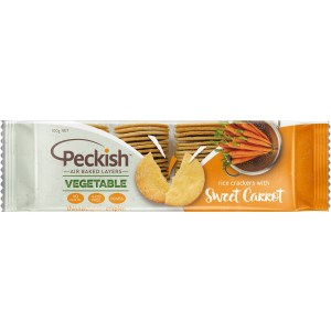 Peckish Rice Crackers – Sweet Carrot