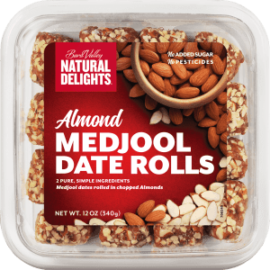 Natural Delights Almond Date Rolls 227g