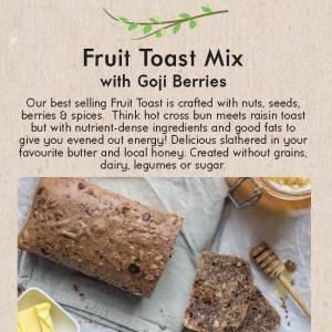 Primal Alternative Fruit Toast with Goji Berries Packet Mix 590g