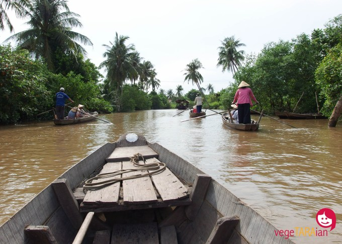A boat ride on the Mekong Delta