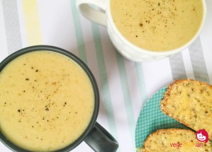 Potato, leek and coconut soup (dairy-free)